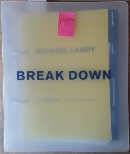 Michael Landy - BREAK DOWN